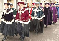the academic senate with historical robes