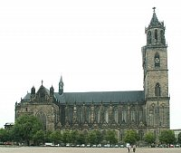 The north side of the Magdeburg Cathedral. Photo: Dr. Heiko Brandl