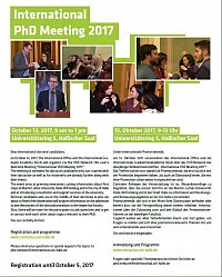 Einladung zum International PhD Meeting 2017